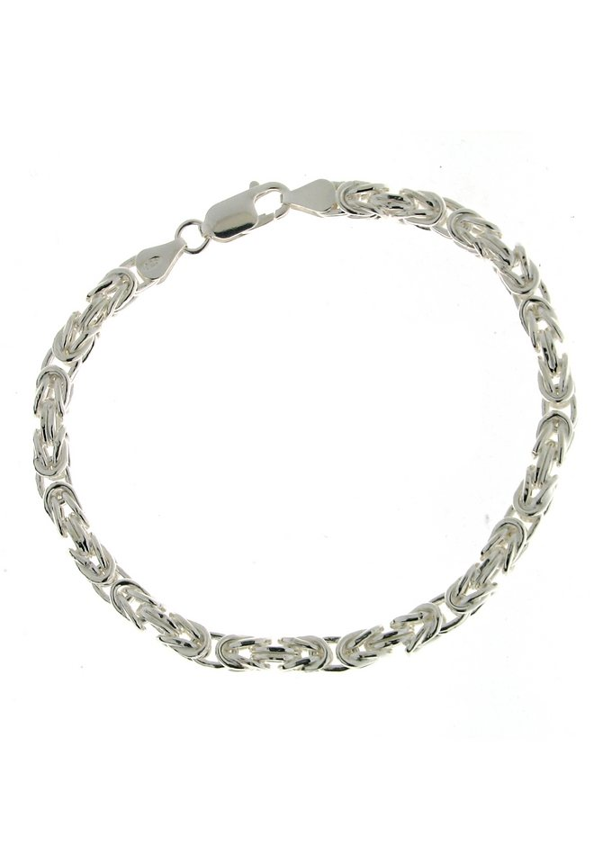 firetti Armschmuck: Armband in Königskettengliederung, 4-fach diamantiert in Silber 925