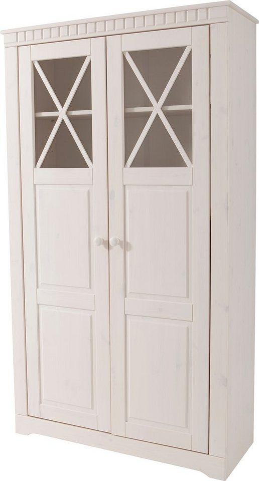 Vitrine, Home affaire, Höhe 160 cm in weiß lasiert