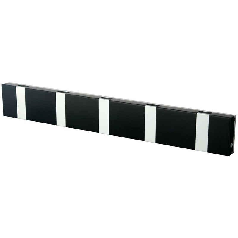 LoCa Garderobe »Knax Lite 5 schwarz Hakenleiste für Bad & Küche«