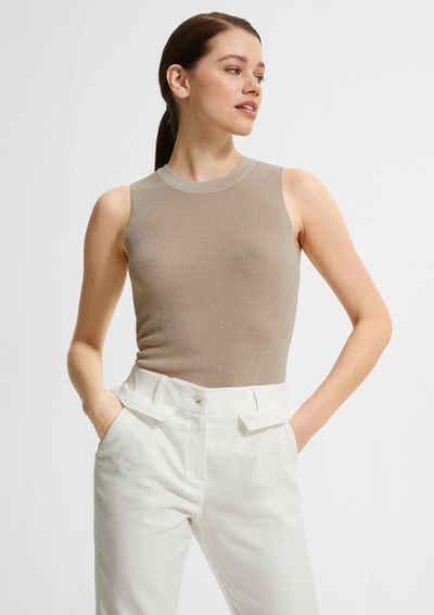 Comma Shirttop »Strukturtop aus softer Strickware« (1-tlg) Blende
