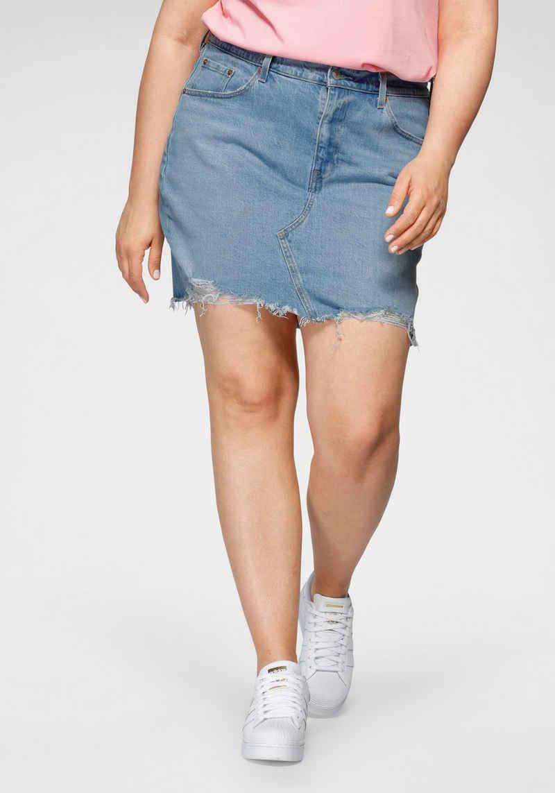 Levi's® Plus Jeansrock »Deconstructed Skirt« mit ausgefranstem Saum
