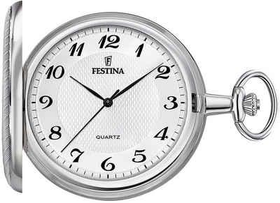 Festina Taschenuhr »UF2024/1 Festina Taschenuhr mit TU Kette F2024/1«, (Analoguhr), Herren Taschenuhr rund, extra groß (ca. 48mm), Edelstahlgehäuse, Elegant