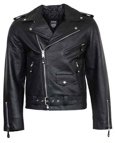 RICANO Lederjacke »Brando« stylische Biker-Jacke, hochwertiges Büffel Leder