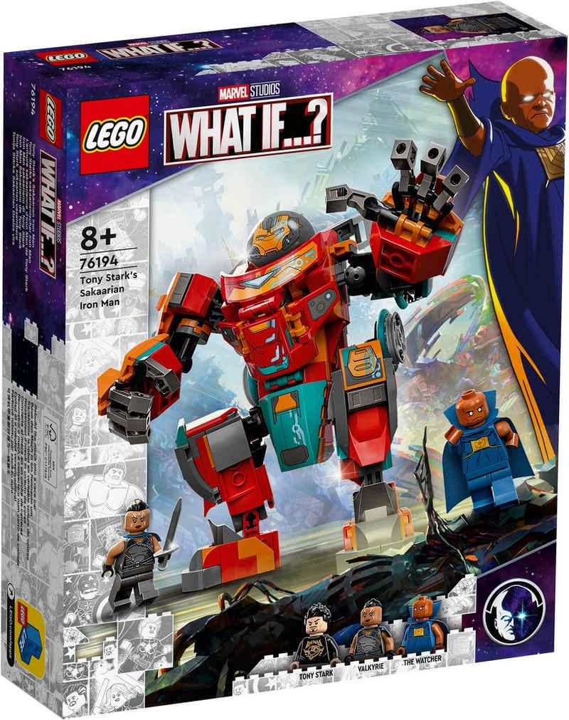 LEGO® Konstruktionsspielsteine »Tony Starks sakaarianischer Iron Man (76194), LEGO® Marvel Super Heroes«, (369 St), Made in Europe