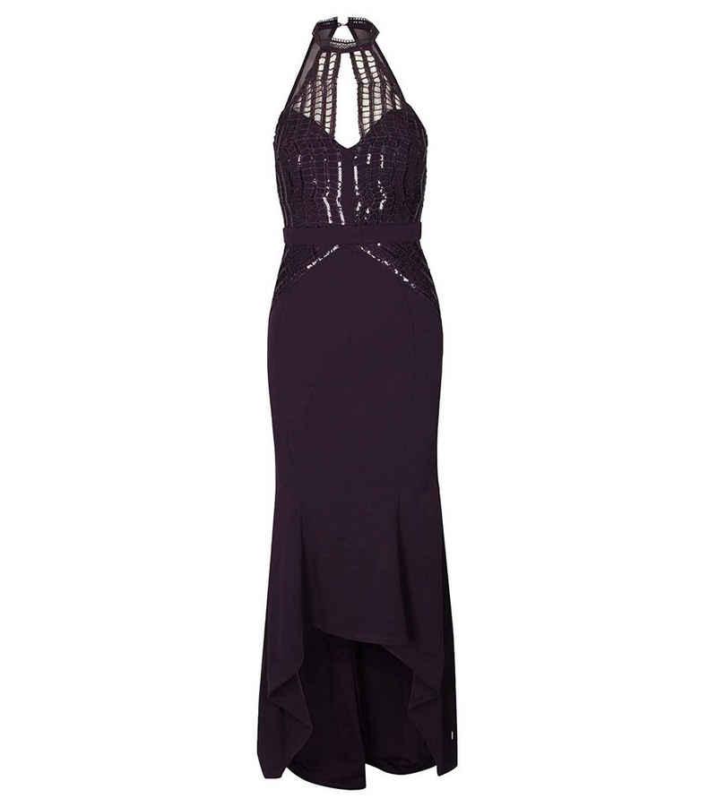 LIPSY Sommerkleid »LIPSY LONDON Abend-Kleid elegantes Maxi-Kleid für Frauen mit Spitze Cocktail-Kleid Violett«