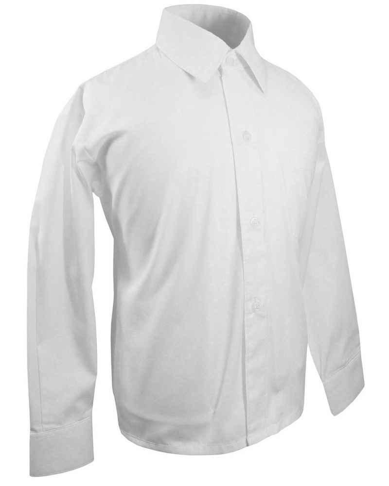 Paul Malone Langarmhemd »Festliches Kinderhemd Jungenhemd uni - Jungen Hemd« weiß KH1 - 92 (2 Jahre)