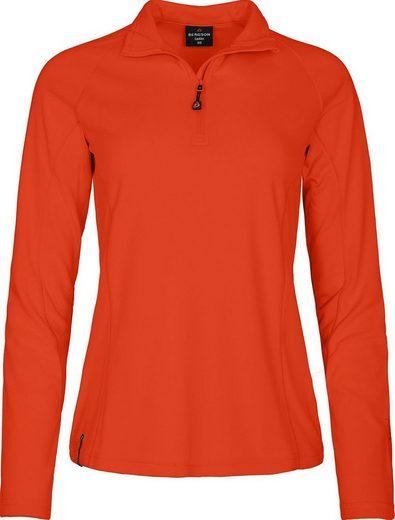 Bergson Fleeceshirt »ALENA« Damen Skirolli, leicht, warm, innen angeraut, Normalgrößen, Tango rot
