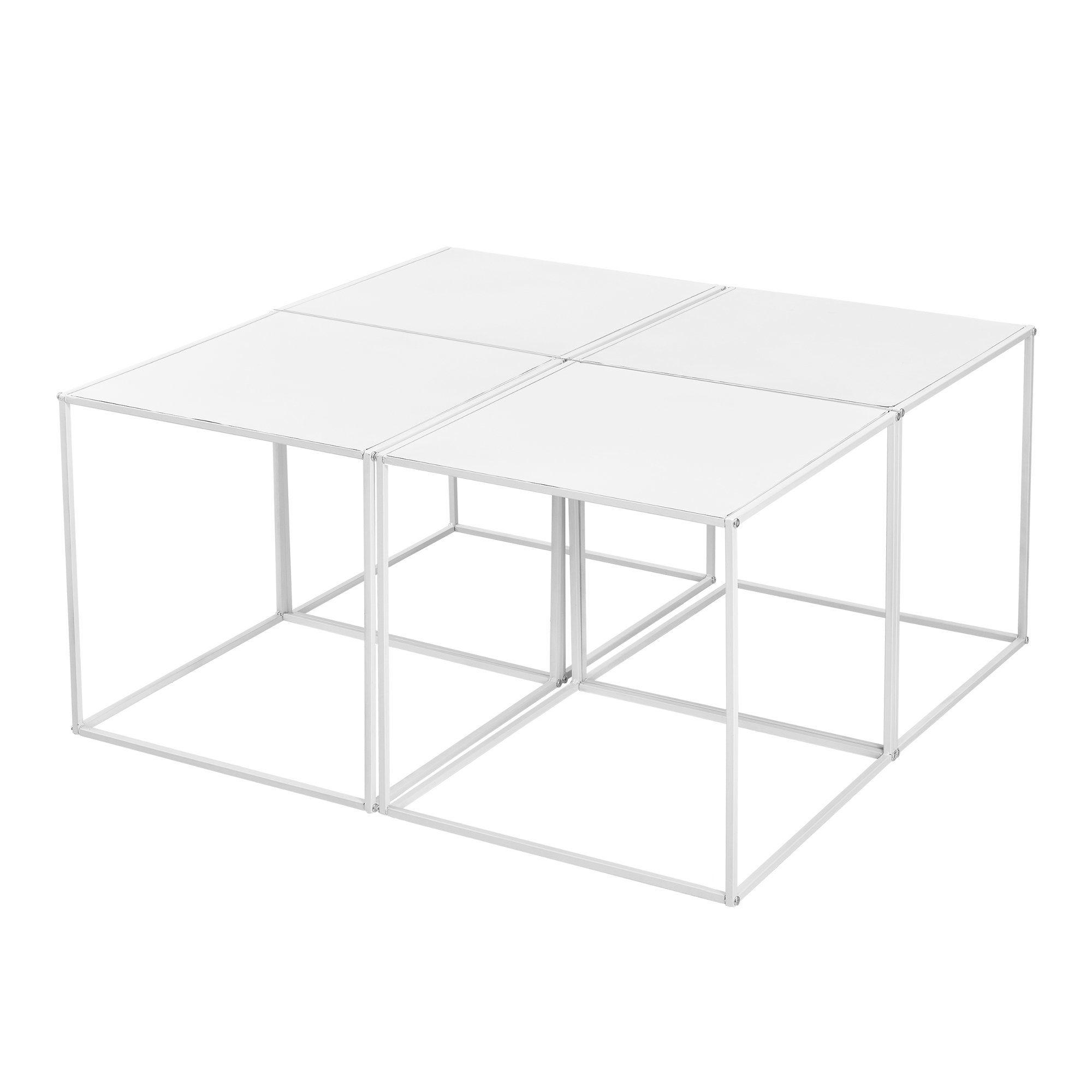 en.casa Couchtisch, »Monarch« 4er Set Weiß je 45x45x45cm online kaufen | OTTO