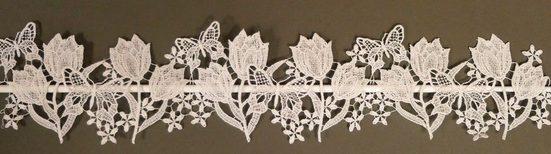 Scheibengardine »Tulpen«, Stickereien Plauen, Stangendurchzug (1 Stück)