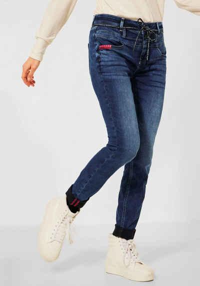 STREET ONE Stretch-Jeans »Style Bonny« mit doppelten Gürtelschlaufen