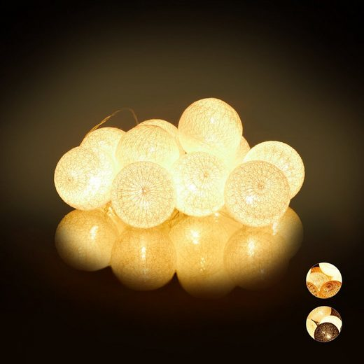 relaxdays LED-Lichterkette »LED Lichterkette mit 10 Kugeln«