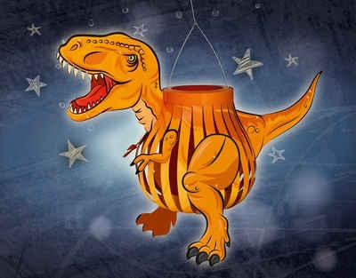 URSUS Papierlaterne »T-Rex«, 28 cm x 45 cm x 24 cm