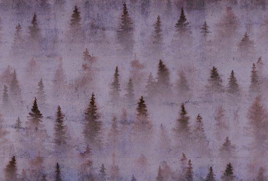 Architects Paper Fototapete »Atelier 47 Coniferous Artwork 1«, glatt, Wald, (4 St)