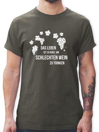 Shirtracer T-Shirt »Das Leben ist zu kurz um schlechten Wein zu trinken - Schürze mit Motiv - Herren Premium T-Shirt - T-Shirts« tshirt das leben ist zu kurz