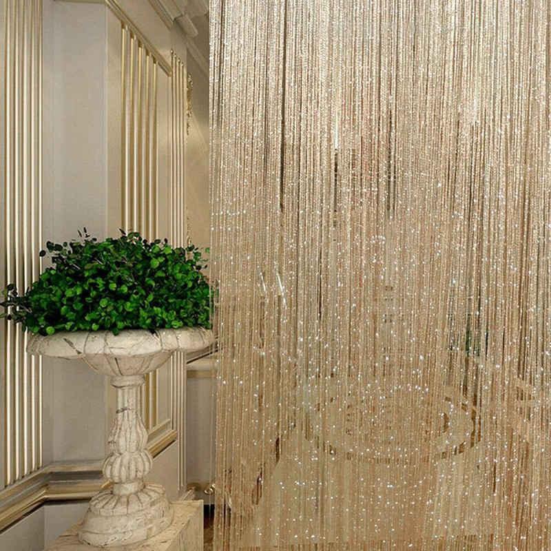Fadenvorhang, Masbekte, Faden Vorhang Glitzer, Tür Vorhang, Quaste Vorhänge, Gardine String, Insekt Vorhang 100*200cm