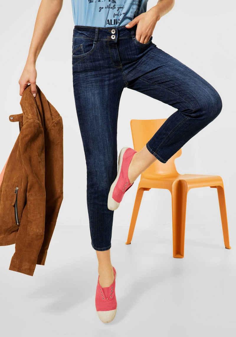 Cecil Slim-fit-Jeans »Style Toronto« mit leichtem Used-Effekt