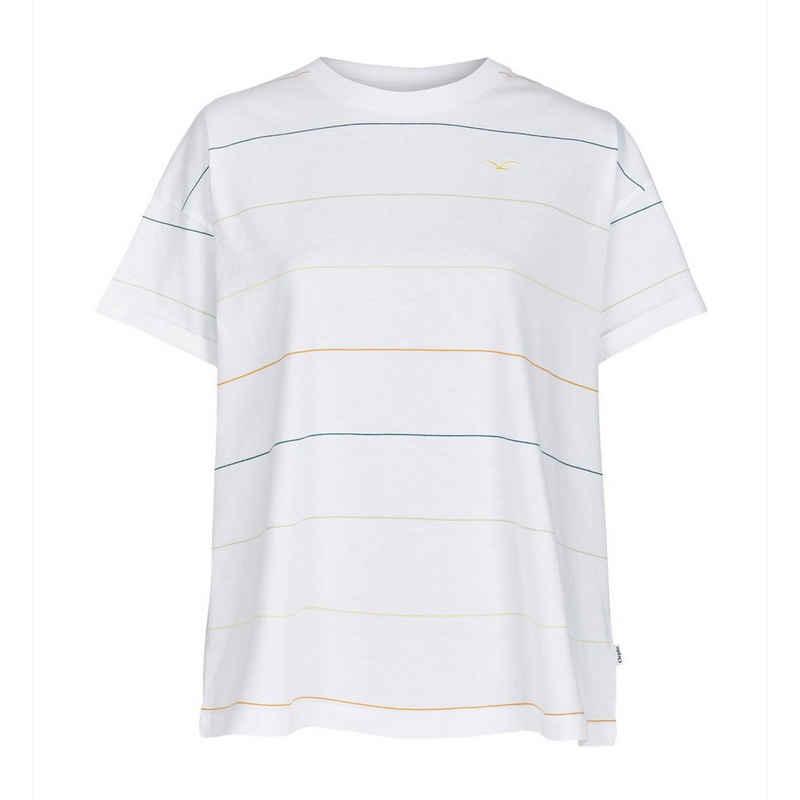 Cleptomanicx T-Shirt »Damen Multi Stripe - white«