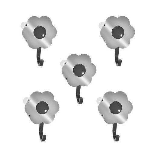 Wandhaken »Blumenhaken L«, Kochblume, (Spar-Set, 5-St), Tragkraft bis zu 8 kg