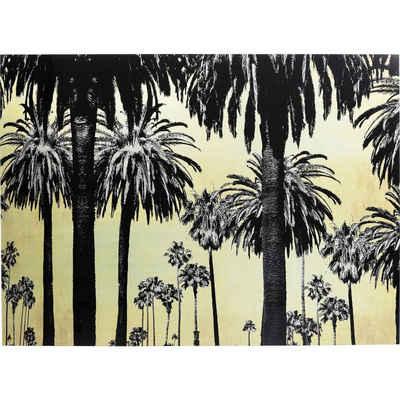 KARE Dekoobjekt »Bild Glas Metallic Palms 120x180cm«