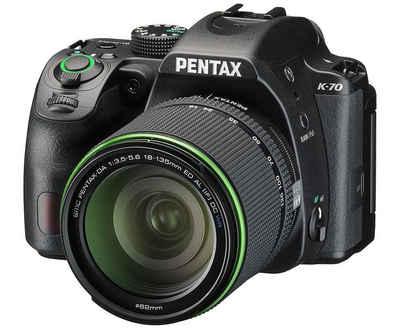 Pentax »K-70 + DAL 3,5-5,6 ED 18-135mm WR schwarz« Spiegelreflexkamera