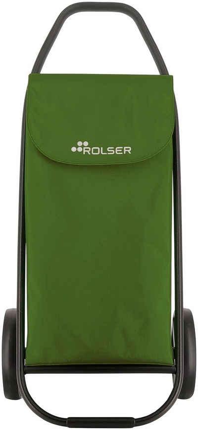Rolser Einkaufstrolley »COM 8 Black Tube«, 53 l, Maße: 47,5x42x101 cm, mit extra großen Reifen