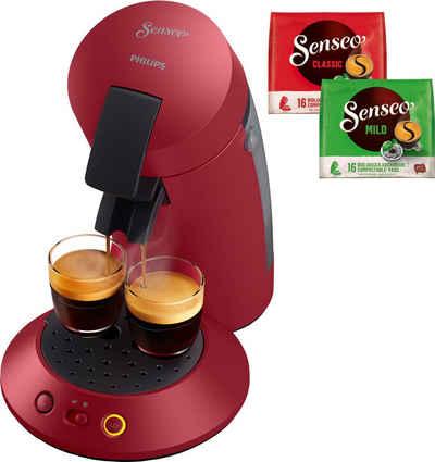 Senseo Kaffeepadmaschine Original Plus CSA210/90, inkl. Gratis-Zugaben im Wert von 5,- UVP