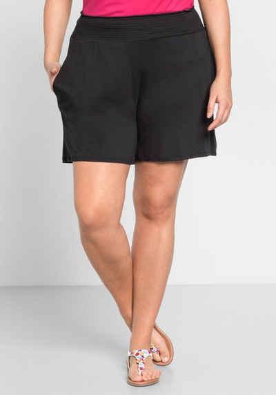 Sheego Shorts mit Smokbund und zwei Taschen