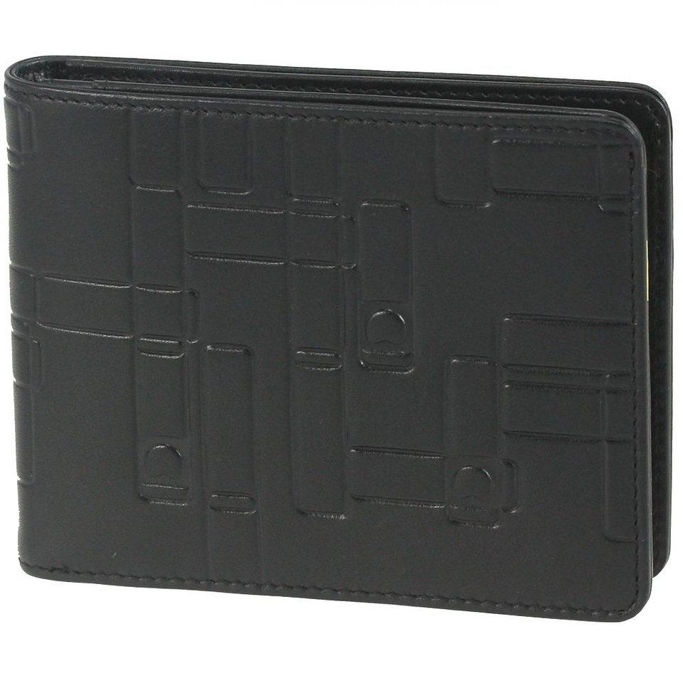 Delsey Echappée Geldbörse Leder 12,7 cm in schwarz