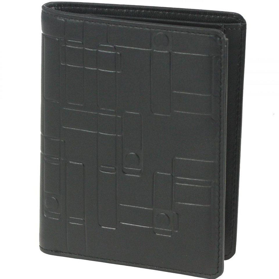 Delsey Echappée Geldbörse Leder 7,7 cm in schwarz