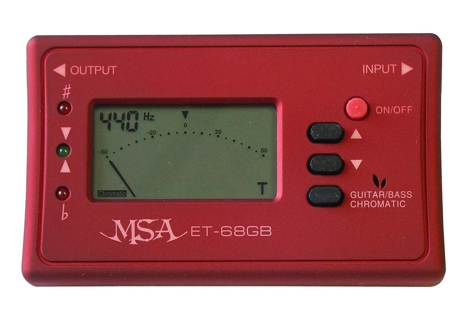 Stimmgerät für Bass und Gitarre mit Chromatik, »Stimmgerät«, MSA in rot