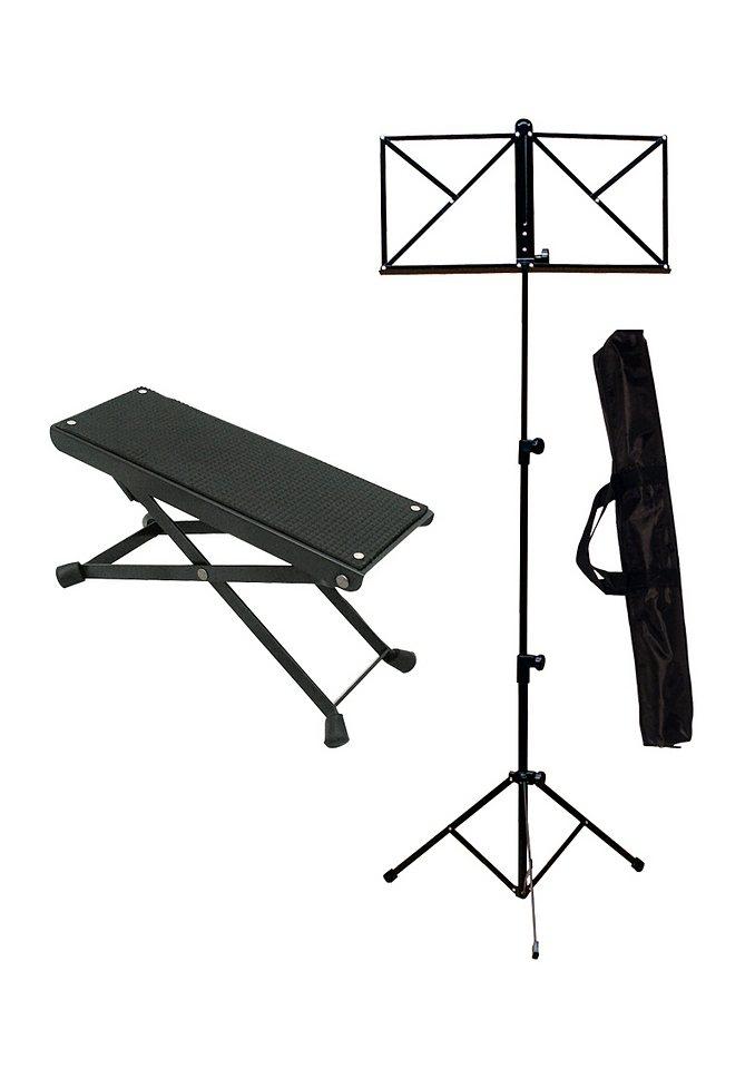 Ständer-Set: Notenständer und Fußstuhl, MSA