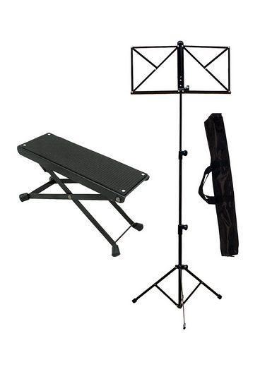 Notenpult »Notenständer und Fußstuhl«, (Set, 3-tlg), Notenständer und Fußstuhl