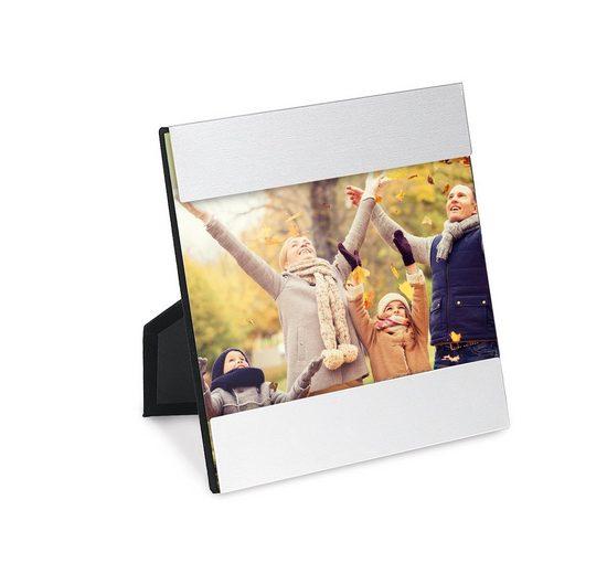 CABBEL Bilderrahmen, für 1 Bilder (1 Stück), Bilderrahmen - Fotorahmen aus Aluminium / Echtglas 13,5 x 13,5 cm