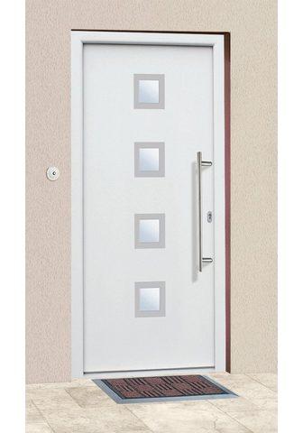 KM Zaun Haustür »A05« BxH: 98x198 cm weiß in 2...