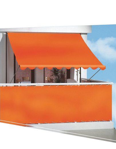 ANGERER FREIZEITMÖBEL Balkonsichtschutz Meterware, orange, H: 75 cm