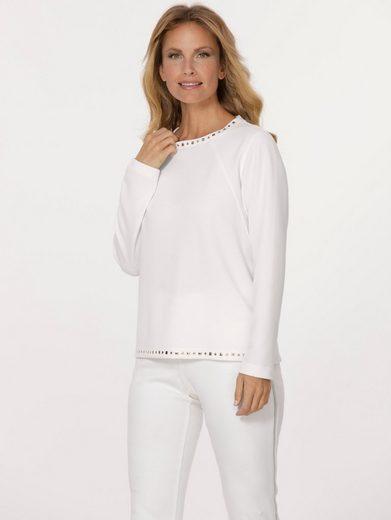 Mona Sweatshirt mit dekorativer Plättchenzier