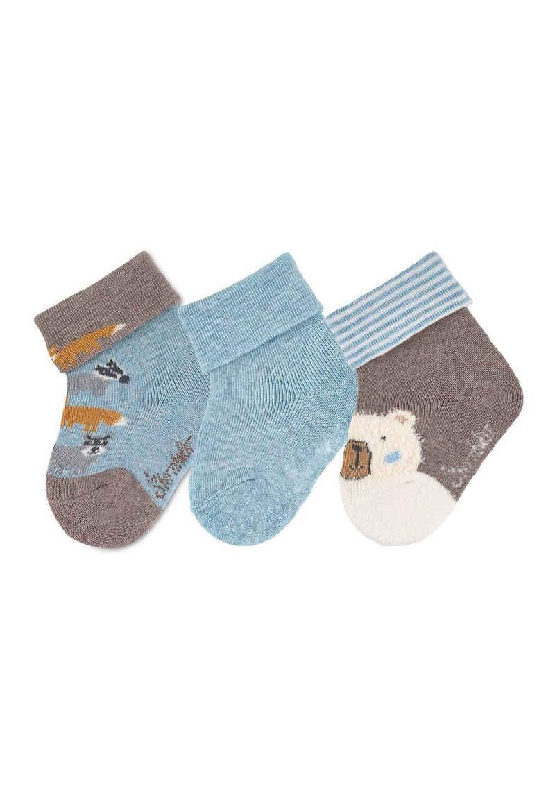 Sterntaler® Socken »Baby-Söckchen 3er-Pack Waldtiere«