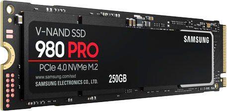 Samsung »980 PRO NVMe« interne SSD (250 GB) 6400 MB/S Lesegeschwindigkeit, 2700 MB/S Schreibgeschwindigkeit)