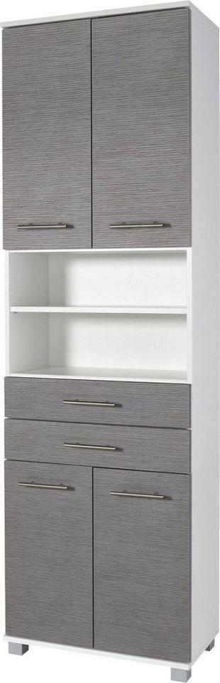 Hochschrank, Schildmeyer, »Palermo« in weiß-grau