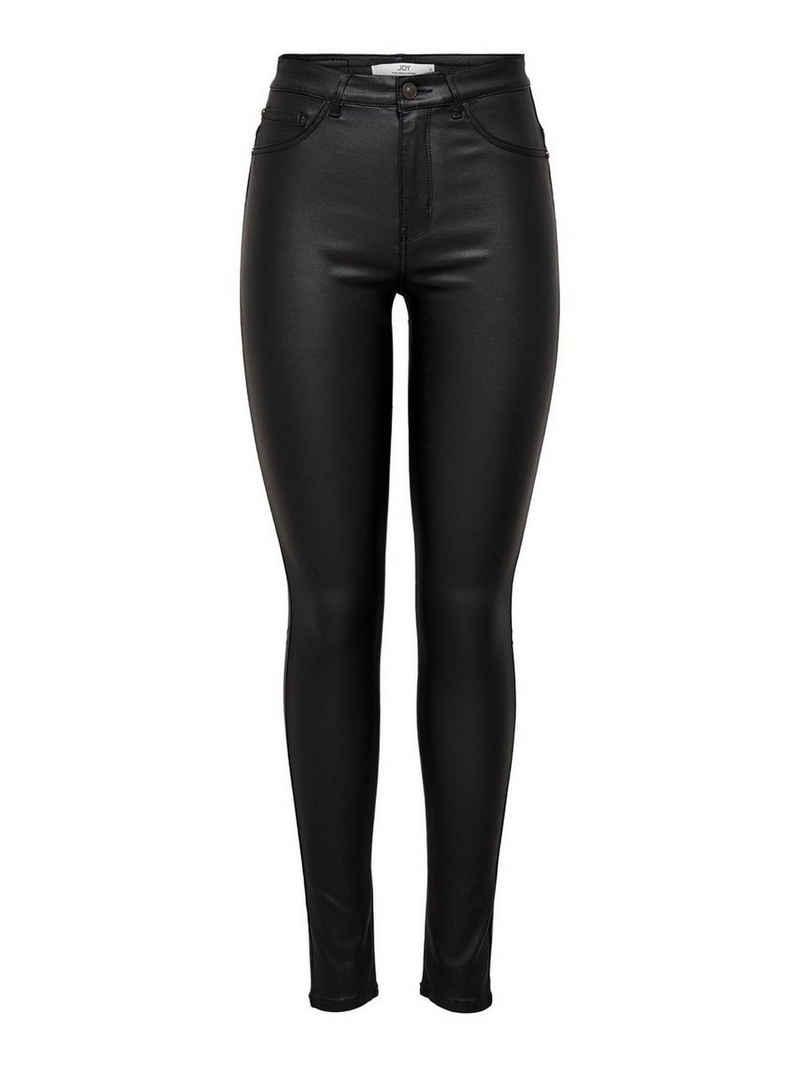 JACQUELINE de YONG Lederimitathose »3358« JDY Damen Hose Leder Optik Coated Skinny SWEATY