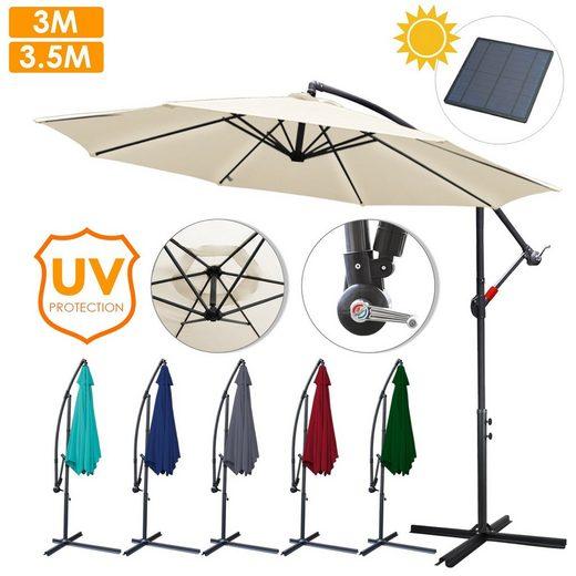 Einfeben Sonnenschirm »3m - 3.5m Sonnenschirm Ampelschirm Marktschirm Balkonschirm,Aluminium, UV40+, UV -Schutz«