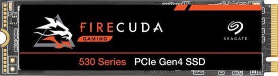 Seagate »FireCuda 530« Gaming-SSD (4 TB) 7.300 MB/S Lesegeschwindigkeit, 6.900 MB/S Schreibgeschwindigkeit, Inklusive 3 Jahre Rescue Data Recovery Services)