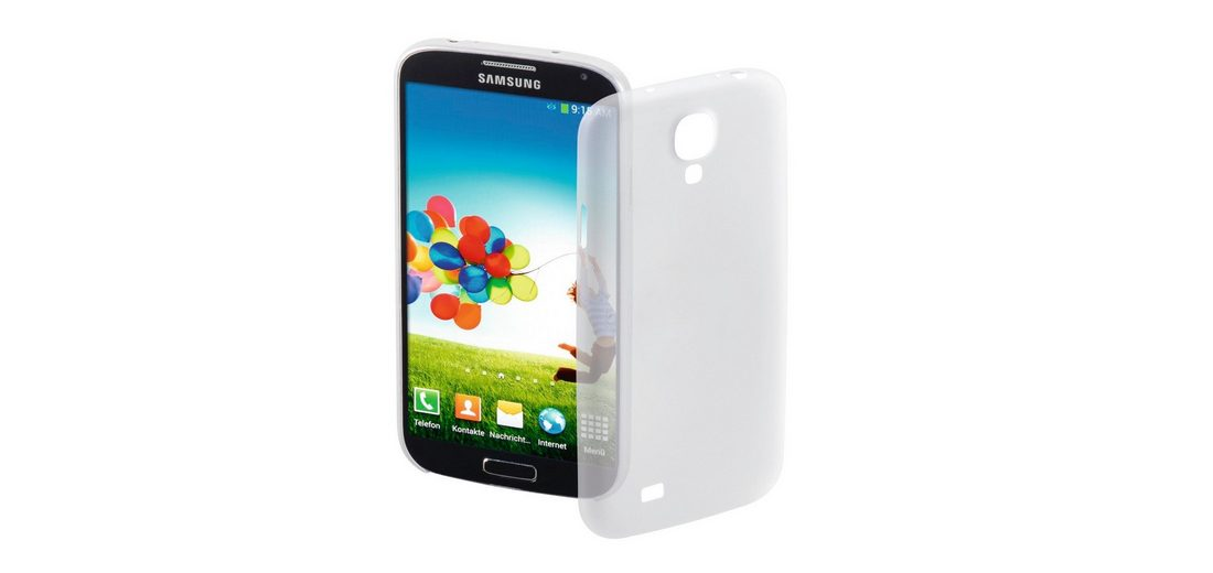 Hama Handy-Cover Ultra Slim für Samsung Galaxy S 4, Weiß