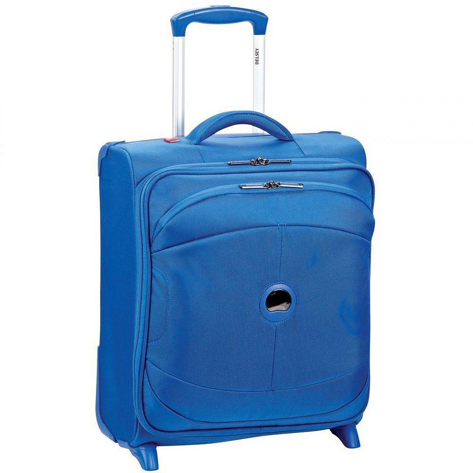 Delsey U-Lite 2-Rollen Kabinentrolley Slim 50 cm in blau