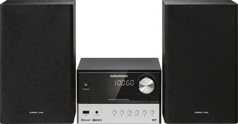 Grundig »CMS 2000 BT Micro-« Kompaktanlage (Bluetooth, Display mit Uhranzeige, Wecker, Sleep-Timer, 12 und 24 Stunden Umschaltung, RDS-Uhrzeit Synchronisation, UKW-Radio, USB-Audiowiedergabe)