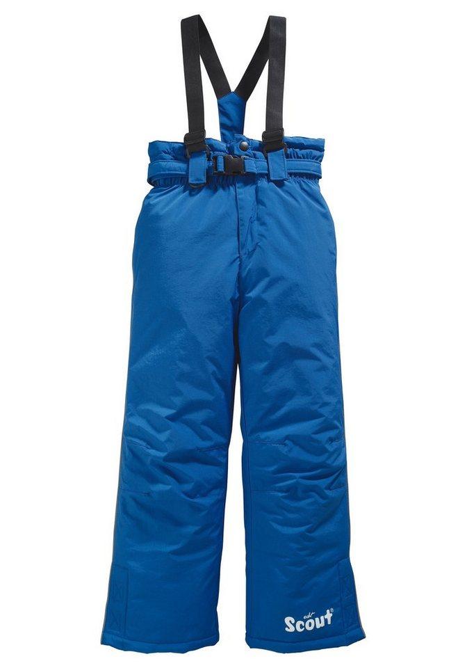 Scout Schneelatzhose mit abnehmbaren Gürtel und Hosenträgern in royalblau