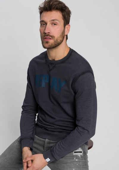 Replay Sweatshirt washed-Optik