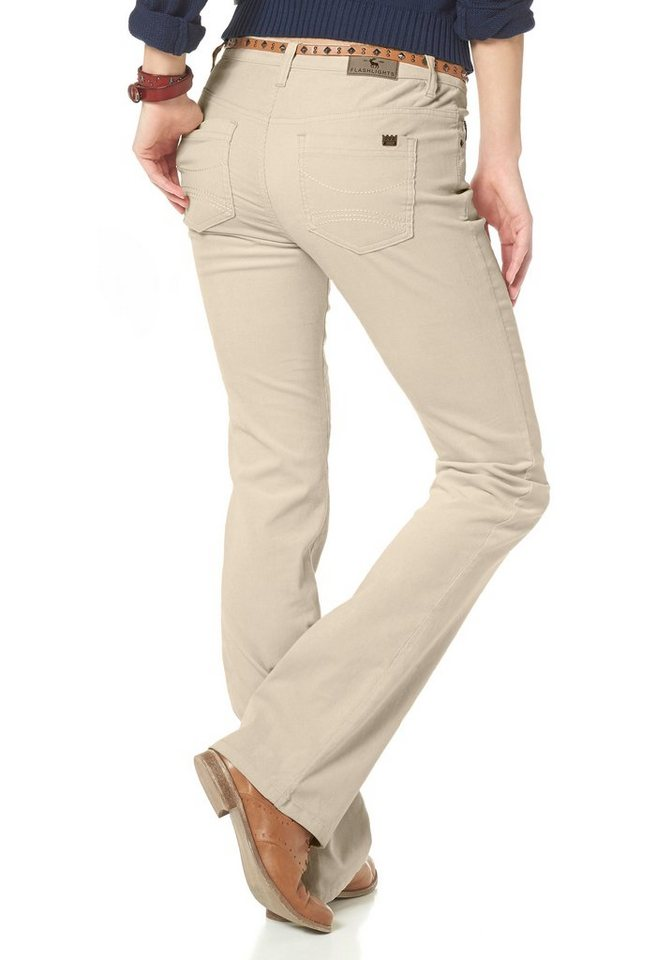 Flashlights Cordhose in beige