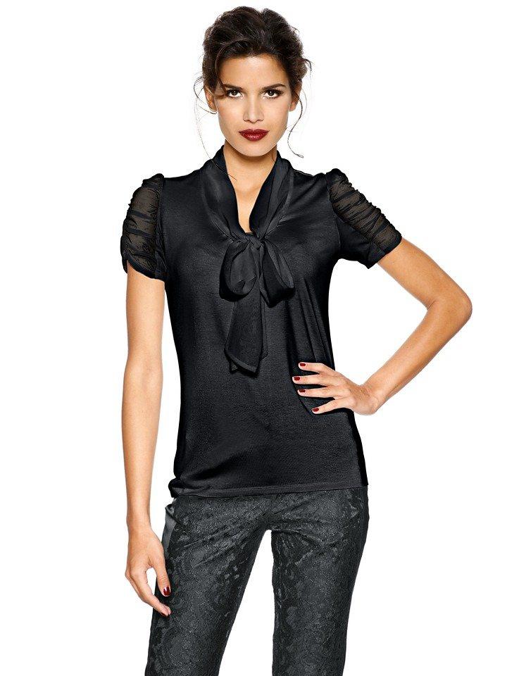 Blusenshirt in schwarz