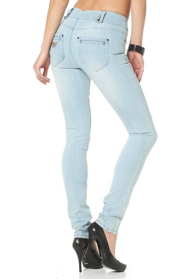 Arizona Skinny-fit-Jeans »Shaping« High Waist in bleached